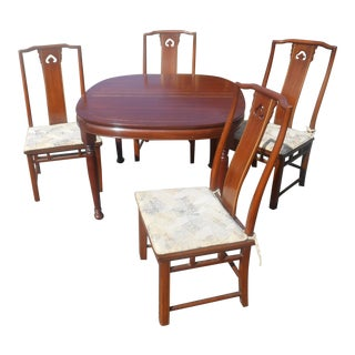 White Furniture Co. Mid-Century Dining Table & 4 Chairs For Sale