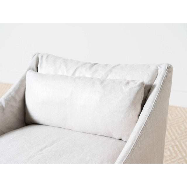 Modern Lowback Campaign Chair For Sale - Image 4 of 6
