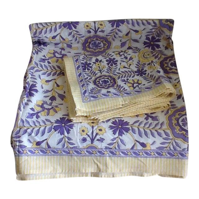 Tuscany Style Tablecloth & Napkins - Set of 8 - Image 1 of 10