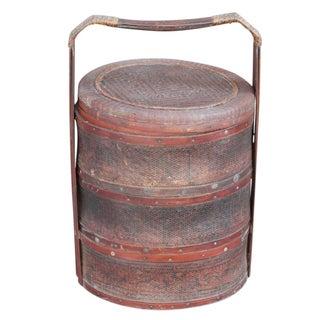 Antique Rataan Wedding Basket II For Sale