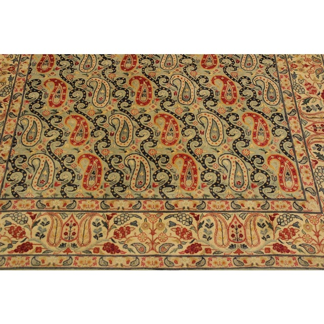 Shabby Chic Guhm Pak-Persian Pearline Lt. Green/Tan Wool Rug - 4'8 X 7'1 For Sale In New York - Image 6 of 8