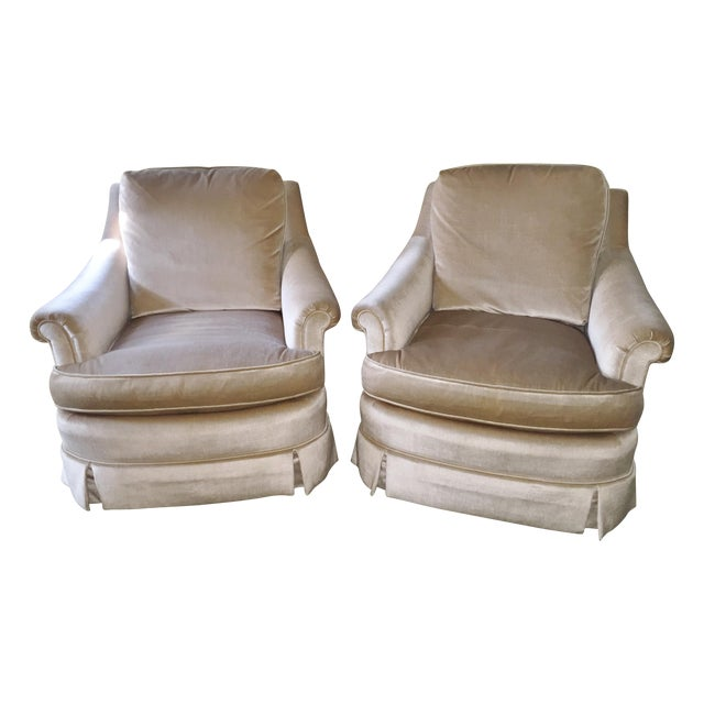 Mid-Century Baker Furniture Club Chairs - A Pair - Image 1 of 8