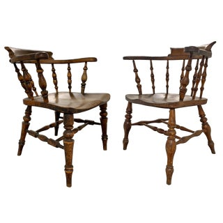 19th Century English Pub Chairs - a PAir For Sale