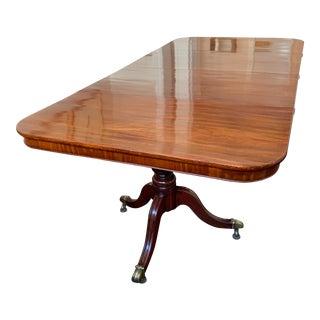 Regency Mahogany Dining Room Table For Sale