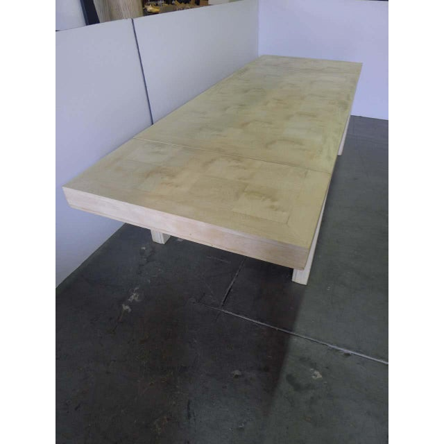 Mid 20th Century Mid 20th Century Restored Parsons Dining Table For Sale - Image 5 of 12