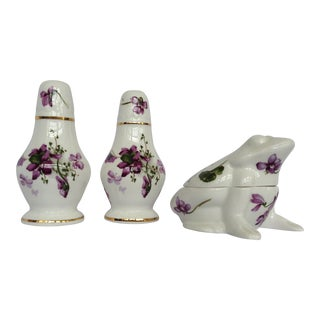 Salt & Pepper Shakers With Sugar Box - Set of 3