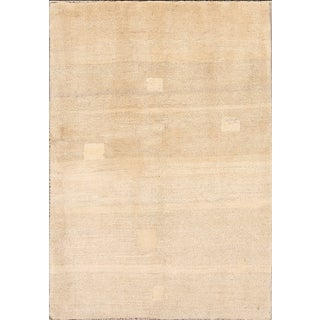 Vintage Mid-Century Persian Gabbeh Rug - 3′8″ × 5′5″ For Sale