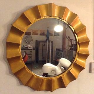 1970s Vintage Gold Cast Resin Sunburst Mirror Preview