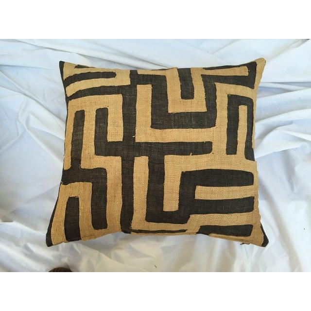 Vintage African Kuba Maze Pillows - A Pair - Image 3 of 8