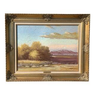 "Robert Wood Original ""Desert Vista"" Oil on Canvas Painting For Sale"