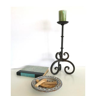 """Vintage Mid Century Wrought Iron 14"""" Tall Candle Holder Preview"""