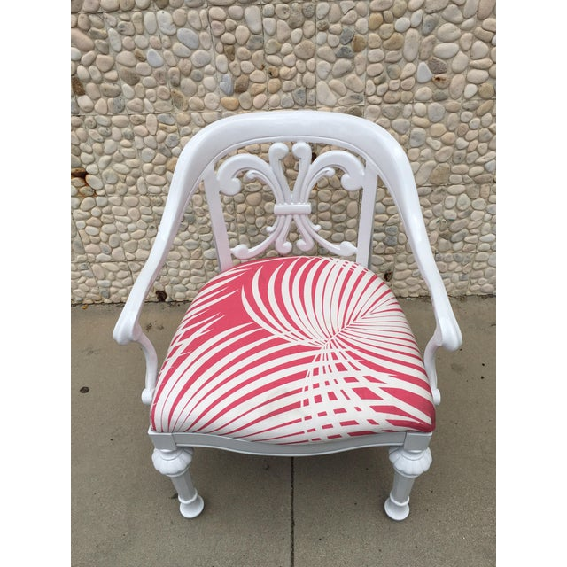 Metal Set of 4 Dorothy Draper Rare Patio Chairs Made by Kessler For Sale - Image 7 of 9