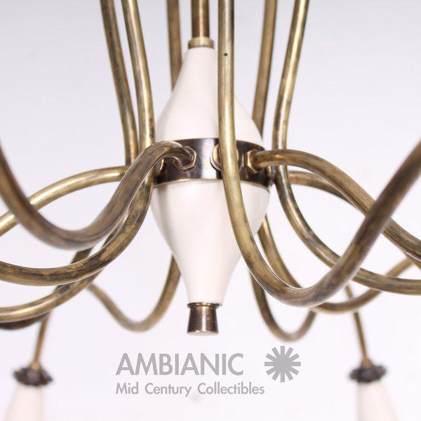 Mid-Century Modern 12 Arm Chandelier For Sale In San Diego - Image 6 of 9