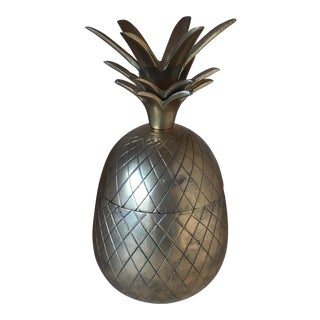 Brass Regency Pineapple Container