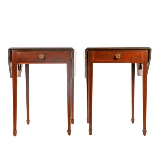 American Mahogany Drop-Leaf Side Table