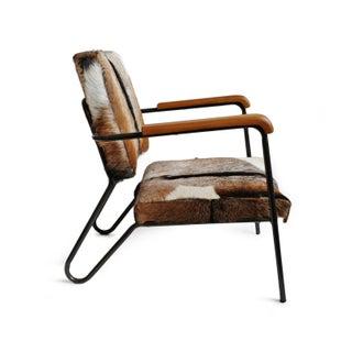 Austin Stripe Hide Arm Chair Preview