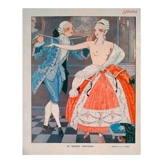 """F. Couderc 1926 """"Le Galant Couturier"""" Le Sourire Print"""