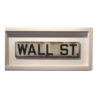 Wall Street sign For Sale