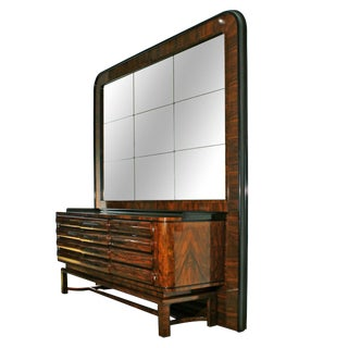1930s Art Deco Sideboard in the Style of Bruno Paul, Walnut, Czechoslovakia For Sale