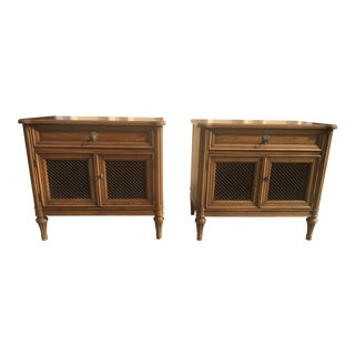 Henredon Night Stands a Pair Neoclassical 1960's For Sale