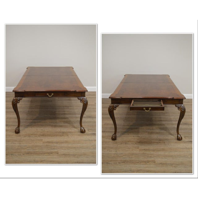 Henredon Henredon Rittenhouse Square Collection Mahogany Chippendale Ball & Claw Banded Dining Table For Sale - Image 4 of 13