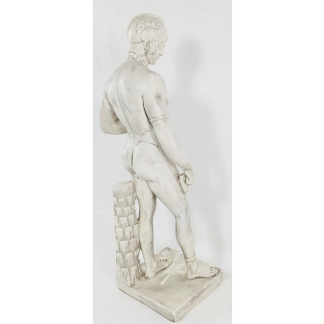 Plaster Monumental Greek Warrior For Sale - Image 7 of 9