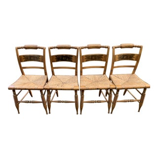 1940s Traditional Hitchcock Chairs - Set of 4 For Sale