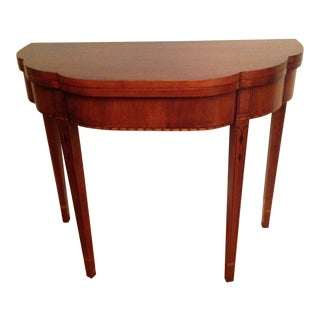 1980s Traditional Henkle Harris Myers Flip Top Card Table