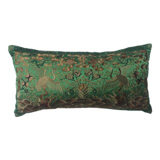 Hollywood Regency Emerald Chinoiserie Boudoir Pillow