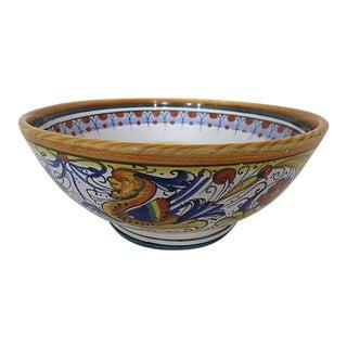 "Vintage Italian Faience ""Deruta"" Bowl For Sale"