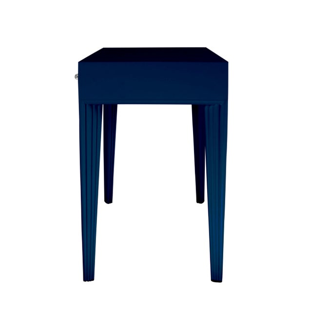 Not Yet Made - Made To Order Barcelona Desk - Navy Blue For Sale - Image 5 of 6