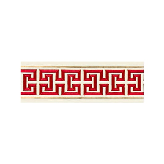 Scalamandre Imperial Embroidered Tape, Lacquer For Sale
