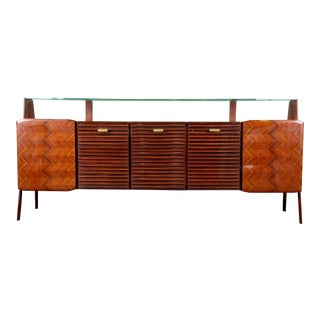 Large Vittorio Dassi Style Mid Century Italian Sideboard For Sale