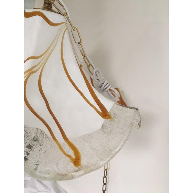 White Handkerchief Style Murano Single Pendant Light by Fazzoletto For Sale - Image 8 of 12