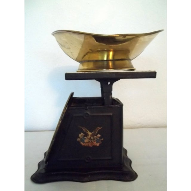 Antique Brass American Kitchen Scales - Image 3 of 5