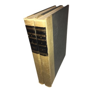 1940 Volume Pewter in America Books - a Pair For Sale