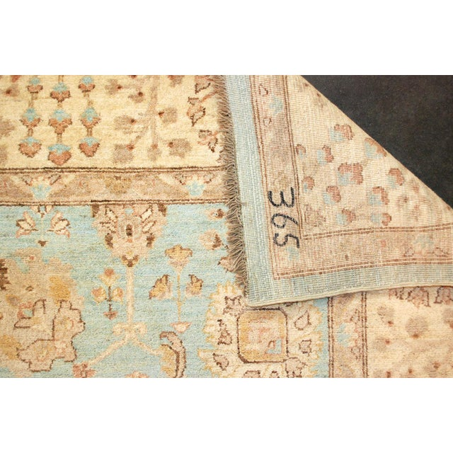 1990s 20th Century Chobi Blue Rug - 7′11″ × 9′9″ For Sale - Image 5 of 8