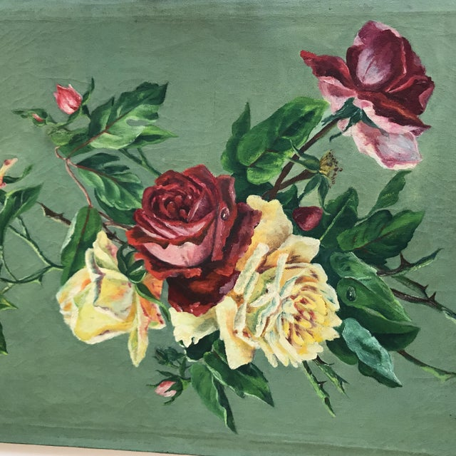 Vintage Still Life Rose Painting - Image 3 of 8