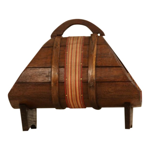 Italian former wine production wooden magazine holder, 1940s For Sale