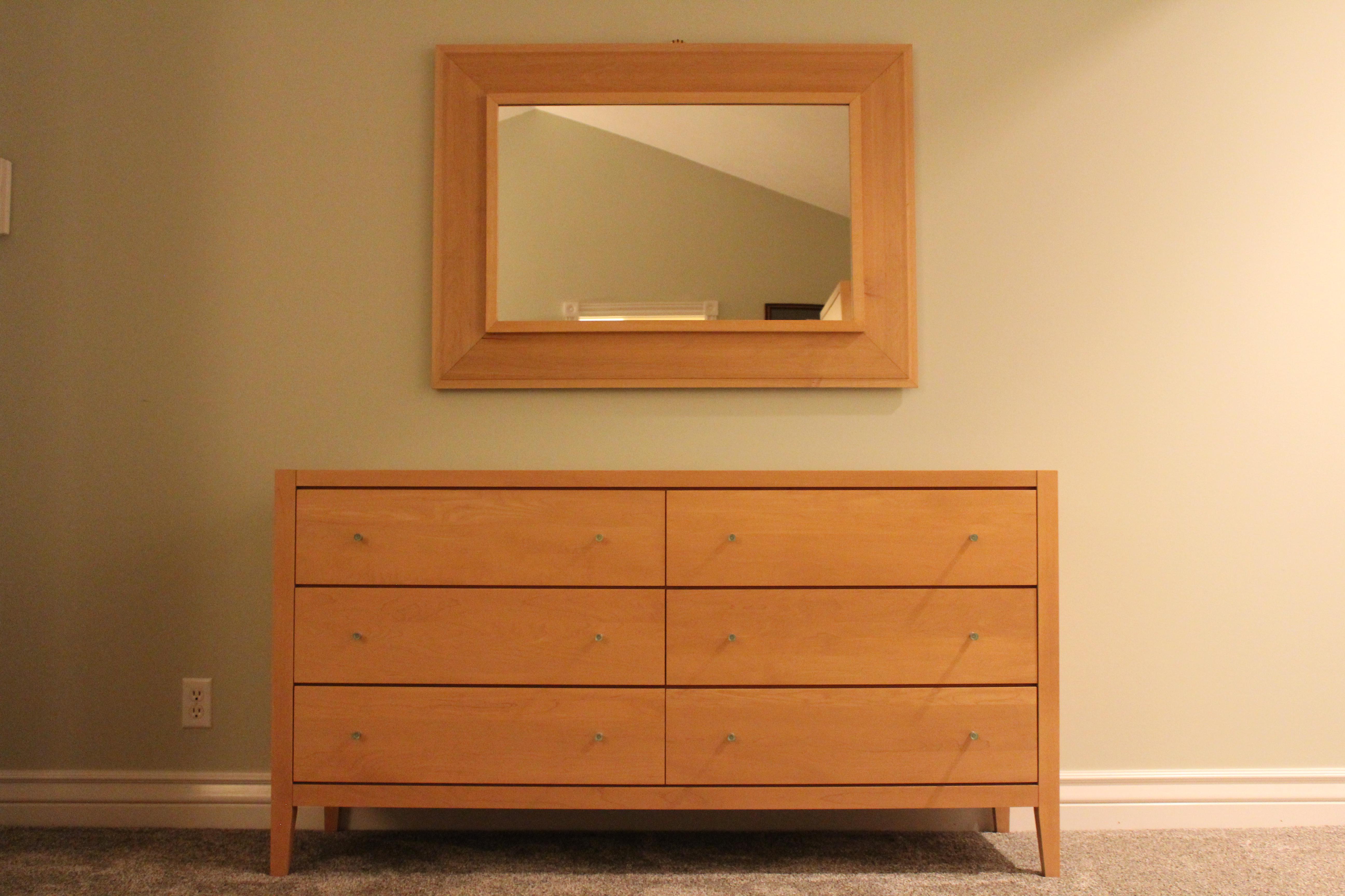 Baronet Mooreau Maple Dresser Mirror a Pair Chairish