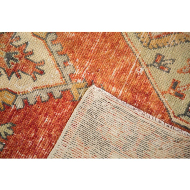 """Shabby Chic Vintage Distressed Oushak Rug Runner - 2'7"""" X 5' For Sale - Image 3 of 10"""