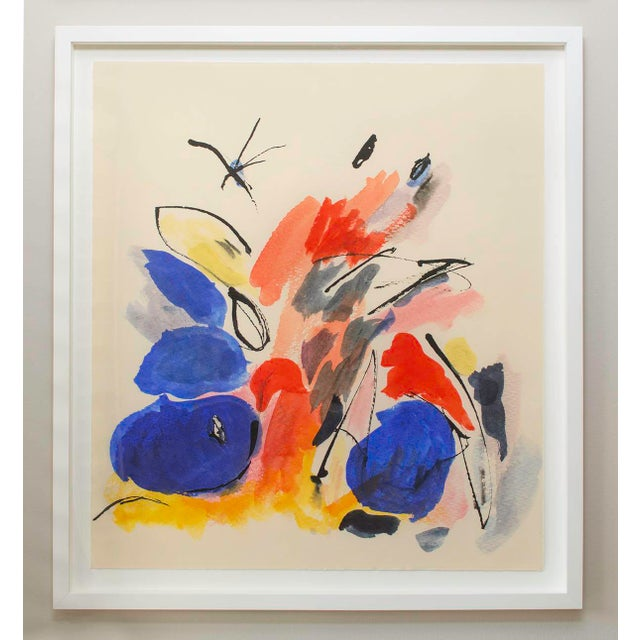 """""""Blue Notes No. 1"""", Mark Frohman for Dde, Abstract Primary Colors Painting For Sale In Los Angeles - Image 6 of 8"""