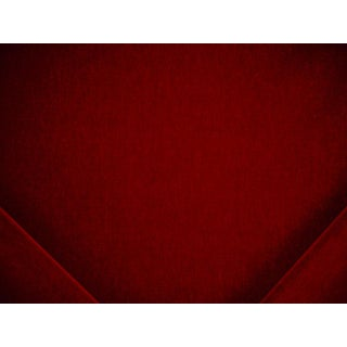 Brunschwig Et Fils Cheveaux Mohair Jewel Red Velvet Drapery Upholstery Fabric - 4y For Sale