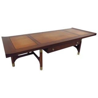 Mid-Century Two-Tone Coffee Table by Weiman For Sale