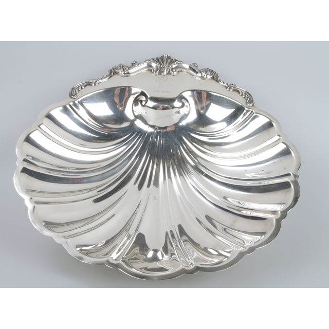 "Elegant, signed silver on copper seashell bowl. Makers mark: ""F.B. Rogers Silver Co. 1824, Silver on Copper"" Simply..."