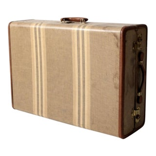 Vintage Striped Wardrobe Suitcase For Sale