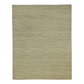 Champagne Vanilla Transitional Rug with Mid-Century Modern Style