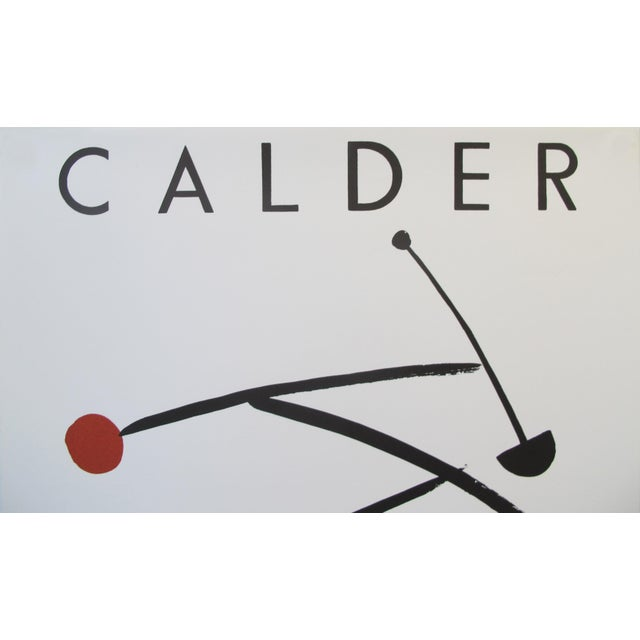 Abstract 1992 Original Exhibition Poster, Institut Français De Prague - Calder For Sale - Image 3 of 7