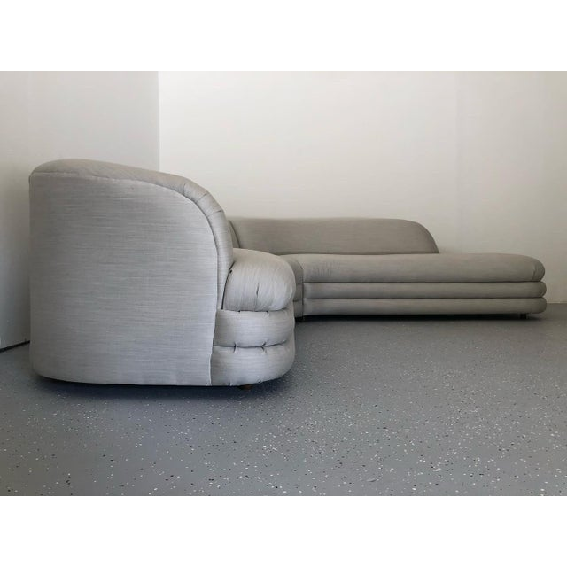 Textile 1970s Vladimir Kagan Directional Sectional Sofa For Sale - Image 7 of 9