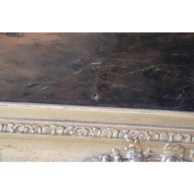19th Century English Oil Painting on Canvas With Golden Frame by George Armfield For Sale - Image 9 of 13